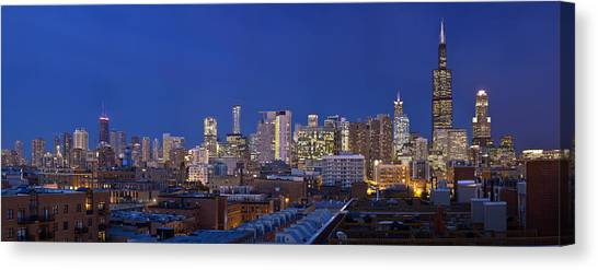 Chicago Skyline West Side Canvas Print