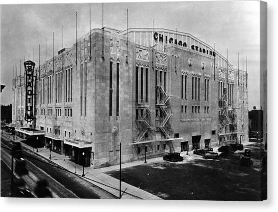Chicago Fire Canvas Print - Chicago Stadium, Chicago, Illinois by Everett
