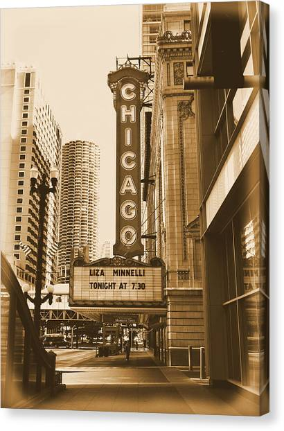 Chicago Theater - 3 Canvas Print