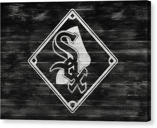 Chicago White Sox Canvas Print - Chicago White Sox Barn Door by Dan Sproul
