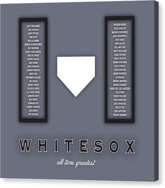 Chicago White Sox Canvas Print - Chicago White Sox Art - Mlb Baseball Wall Print by Damon Gray