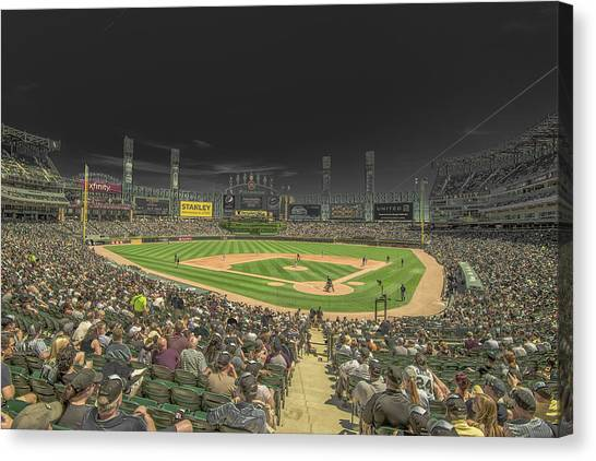Chicago White Sox Canvas Print - Chicago White Sox Us Cellular Field Creative 2 by David Haskett II