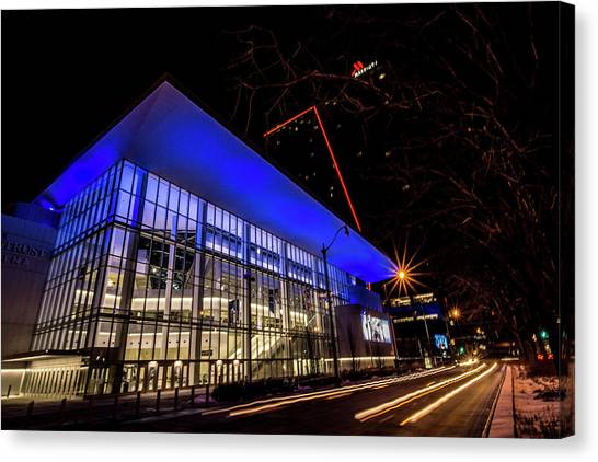 Depaul University Canvas Print - Chicago's New Win Trust Arena At Night by Sven Brogren