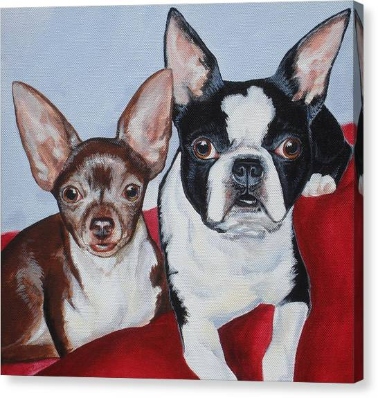 Chichi And Lulu Canvas Print