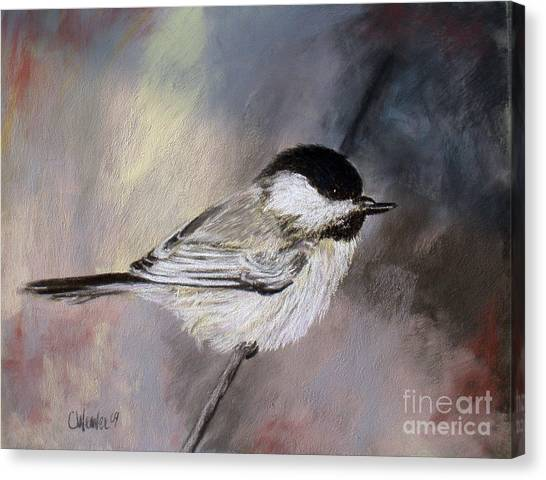 Chickadee Canvas Print by Cathy Weaver