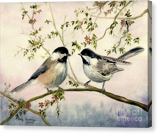 Chickadee Love Canvas Print