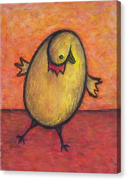 Chicken Egg Canvas Print by Marina Owens
