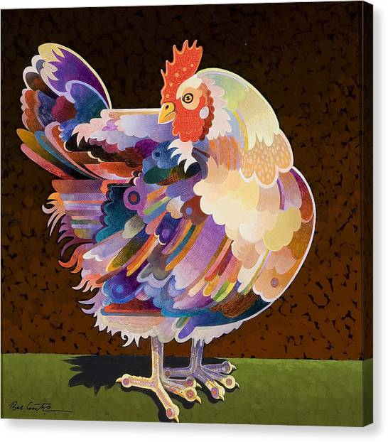 Chicken Canvas Print - Chicken From Jamestown by Bob Coonts