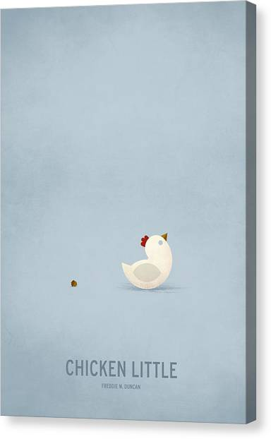 Chickens Canvas Print - Chicken Little by Christian Jackson