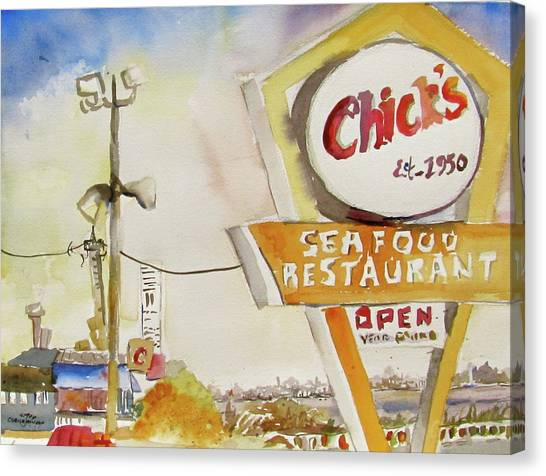 Chick's Seafood Canvas Print