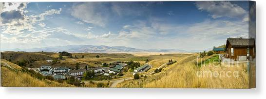 Chico Canvas Print - Chico Hot Springs Pray Montana Panoramic by Dustin K Ryan