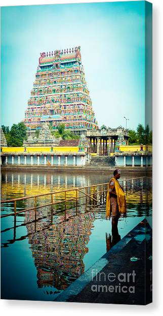 Chidambaram Temple Lord Shiva India Canvas Print