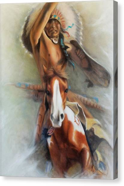 Chief Hole In The Day Canvas Print by Elizabeth Silk