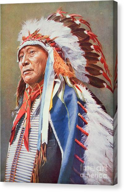 Indians Canvas Print - Chief Hollow Horn Bear by American School
