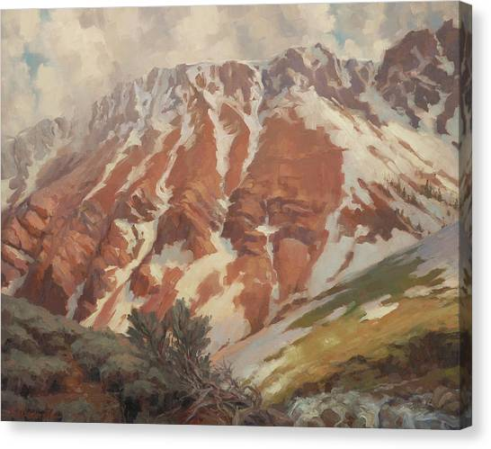 Mountain Cliffs Canvas Print - Chief Joseph Mountain by Steve Henderson