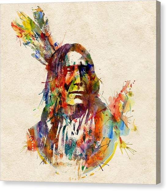 Chief Mojo Watercolor Canvas Print