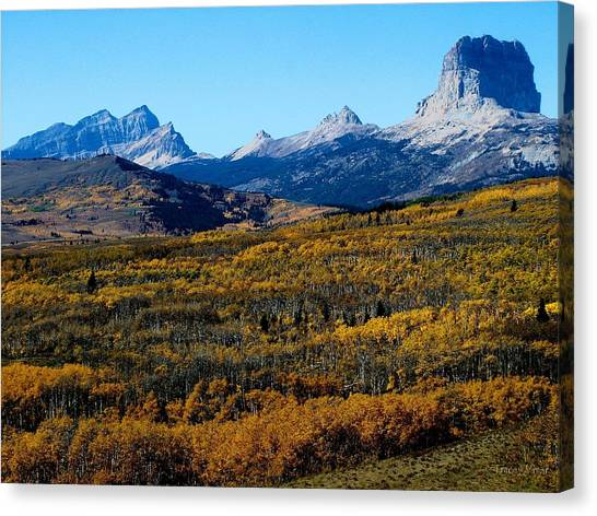 Chief Mountain In The Fall Canvas Print
