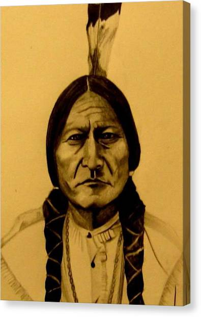 Chief Sitting Bull  Tatanka Iyotake Canvas Print
