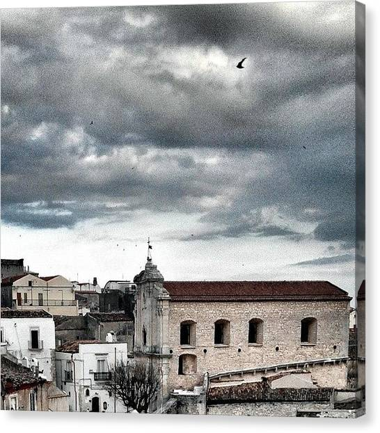 Swallows Canvas Print - #chiesa #church #santissimatrinità by Michele Stuppiello