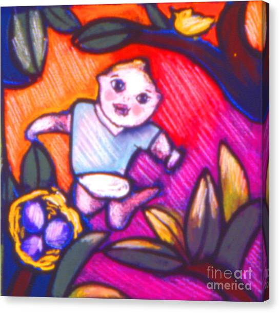 Child Gazing Canvas Print by Angelina Marino