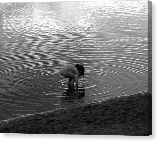 Child Reaching For Treasure Canvas Print