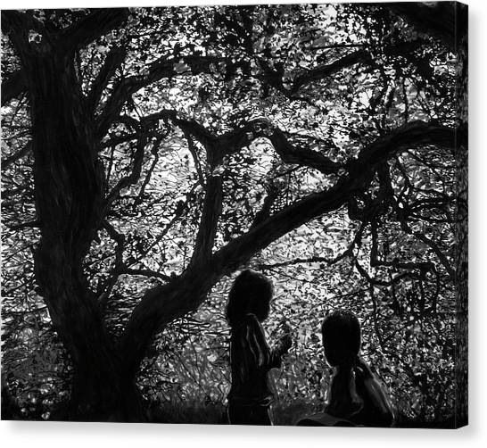 Child Silhouettes Canvas Print