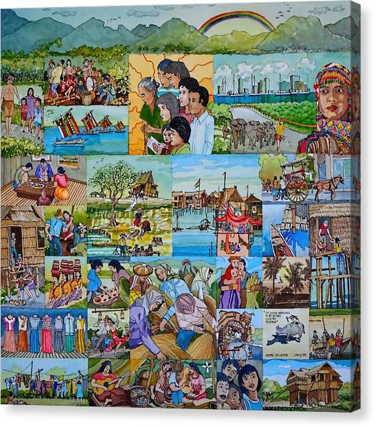 Childhood Memories Of My Mother Country Pilipinas Canvas Print