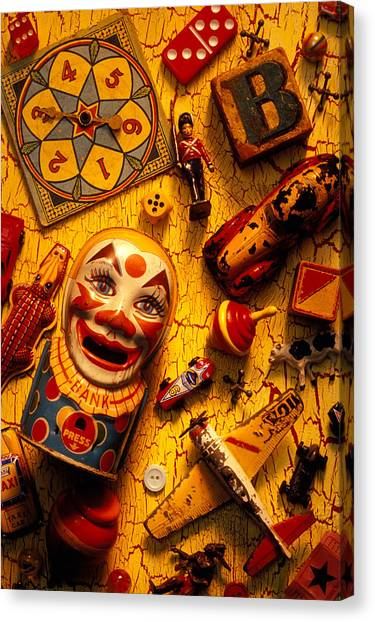 Car-jacking Canvas Print - Childhood Toys by Garry Gay