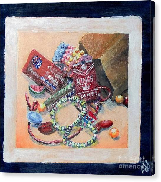 Canvas Print featuring the painting Childhood Treasure by Saundra Johnson
