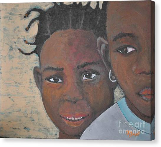 Children Burkina Faso Series Canvas Print by Reb Frost