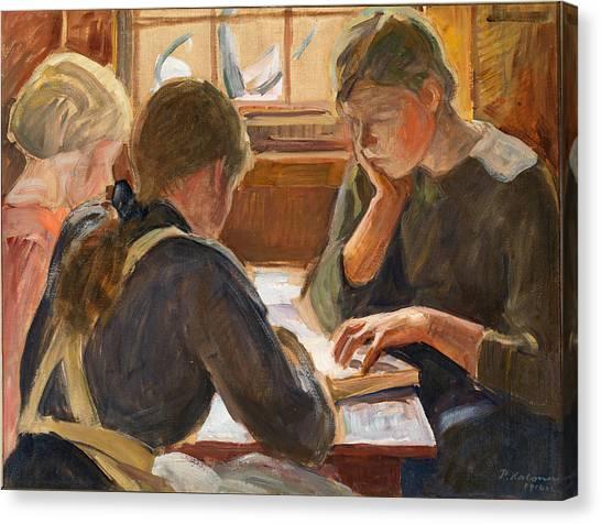 Pekka Canvas Print - Children Reading by Pekka Halonen