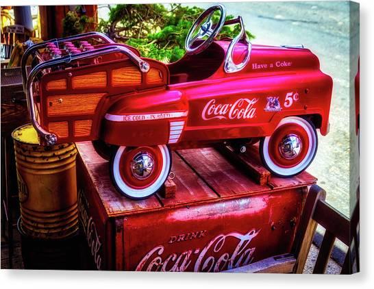 Coca Cola Canvas Print - Childrens Coca Cola Car by Garry Gay