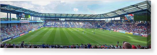 Sporting Kansas City Canvas Print - Children's Sporting Park by C H Apperson