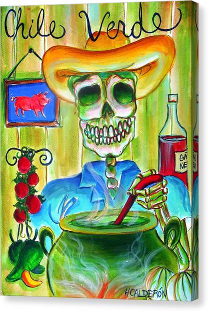 Chile Verde Canvas Print