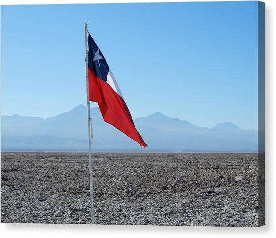 Chilean Flag Canvas Print