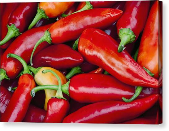Chili Peppers Canvas Print