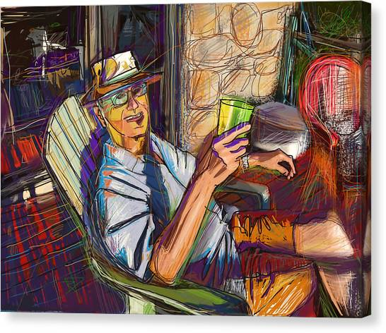 Chillin Canvas Print by Russell Pierce