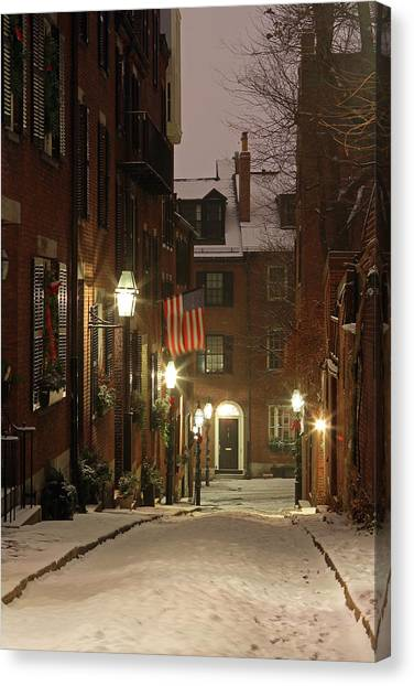 Chilly Boston Canvas Print