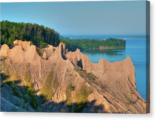 Chimney Bluffs 1750 Canvas Print