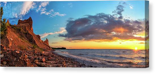 Chimney Bluffs Canvas Print
