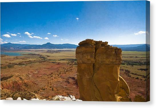 Chimney Rock  And Cerro Pedernal Canvas Print