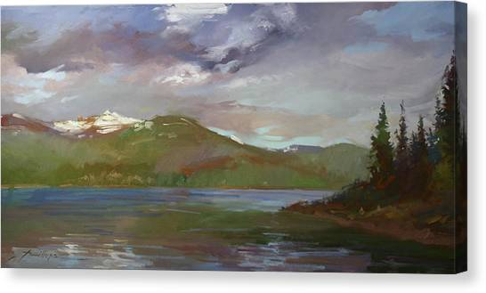 Chimney Rock  At Priest Lake  Plein Air Canvas Print