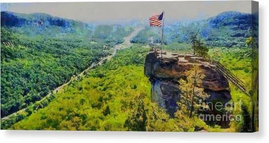 Chimney Rock Nc Canvas Print