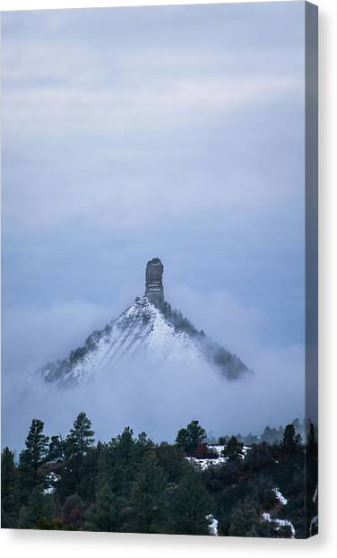 Canvas Print featuring the photograph Chimney Rock Rising by Jason Coward