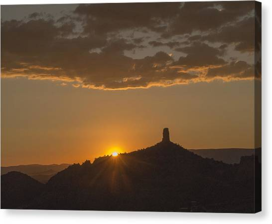 Chimney Rock Sunset Canvas Print