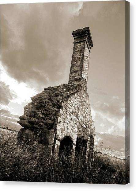 Chimney Ruins Canvas Print