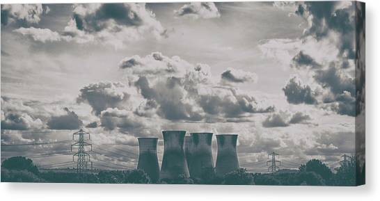 Nuclear Plants Canvas Print - Chimneys by Martin Newman