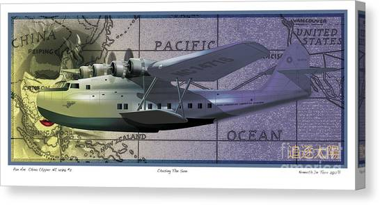 China Clipper Chasing The Sun Canvas Print