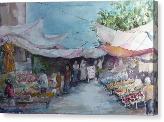 China Market Place Canvas Print by Dorothy Herron