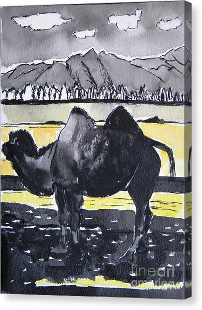 China Silk Road Canvas Print by Lesley Giles